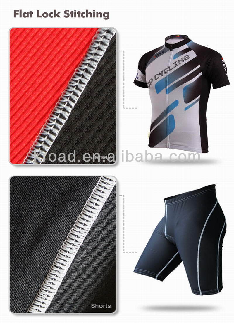 OEM breathable dry fit cycling jersey