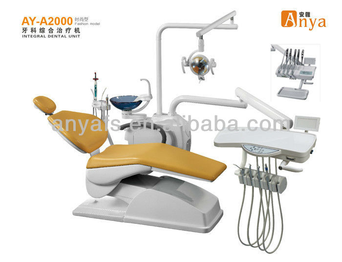 AY-A2000 Fashion dantal unit supply with CE ISO/silent DC dental product/top mounted dental unit