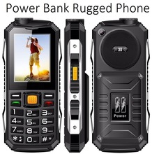 Quad band feature phone Loud speaker 2.4 inch Rugged Power bank CellPhones GSM for Old man