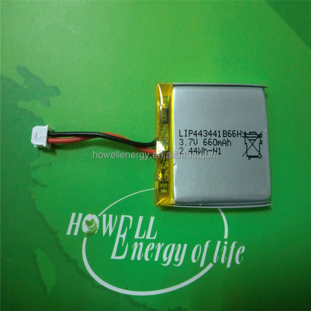 High energy conversion rechargeable 3.7V battery 443441 Lipo Battery 3.7V 660mAh rechargeable lithium polymer battery