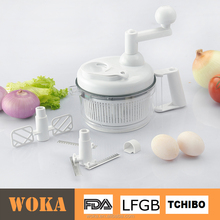 Kitchen Tools Manual Food Processor - Chop, Blend, Whip, Mix, Slice, Shred, Julienne, and Juice, Salad Maker