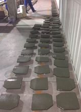 Green Polyurethane plate with ceramic tiles