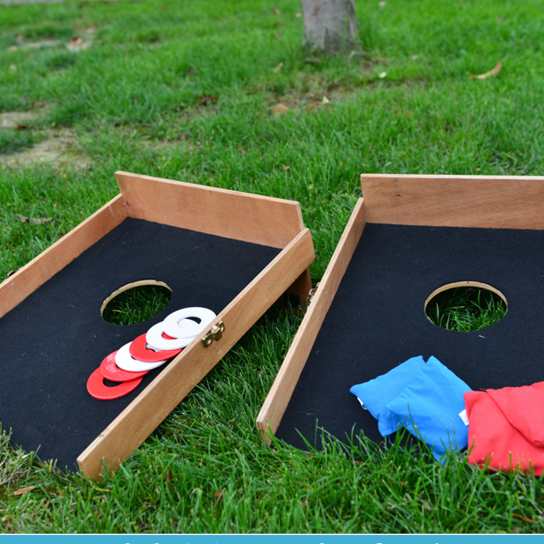 custom wooden bean bag toss game ,Classic Cornhole Set Includes 8 Bags Shelves for drinks