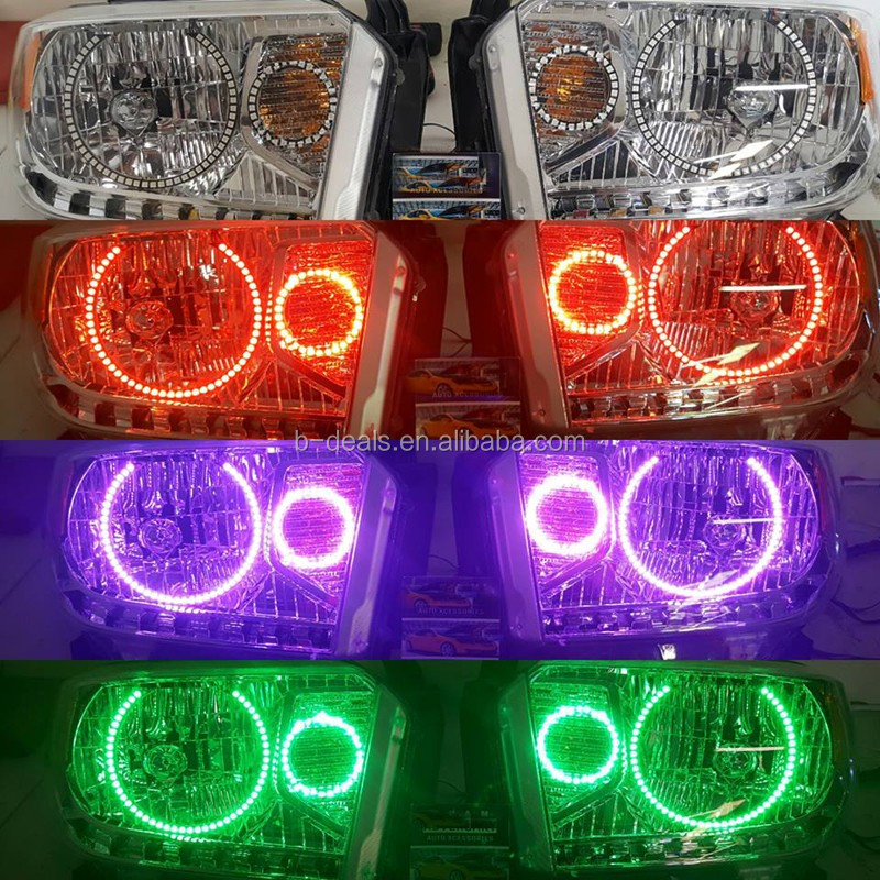 B-deals RGB Multi-Color LED Angel Eyes Halo Rings For Ford F250 F350 2005-07