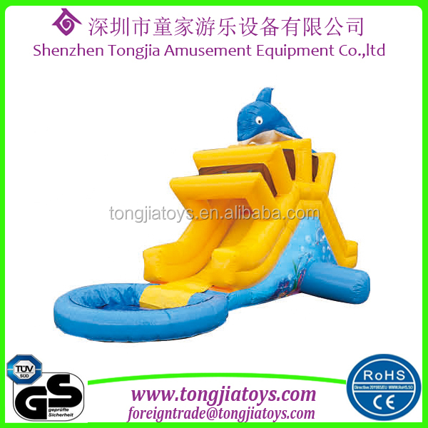children inflatable water slide with pool used inflatable water slide for sale