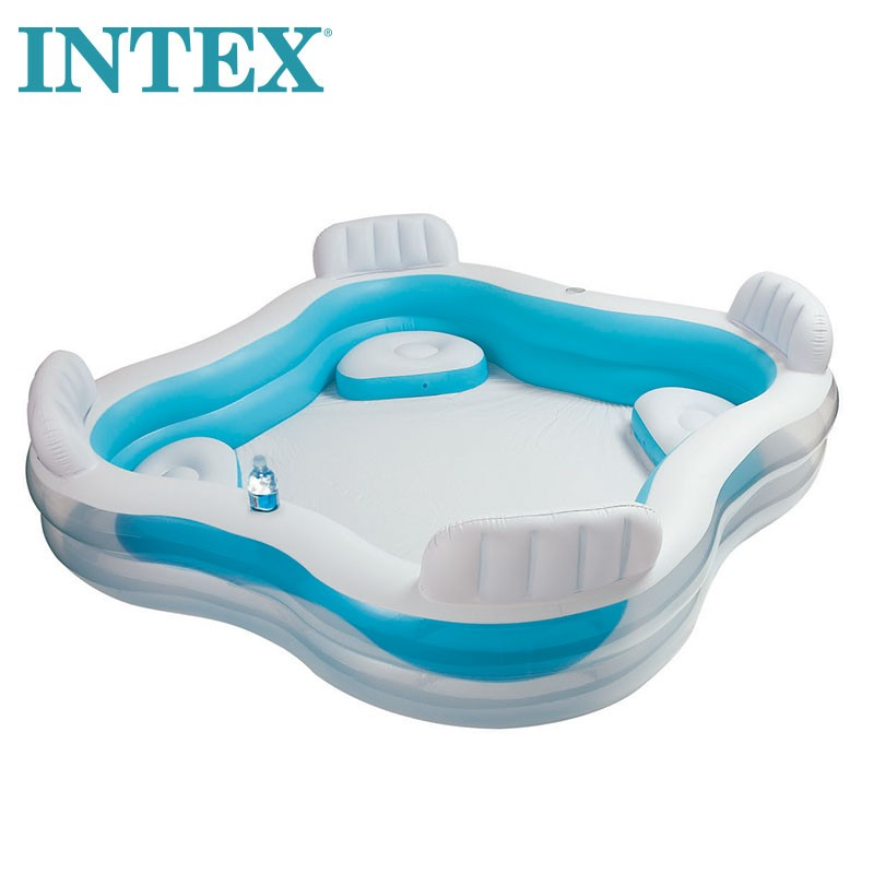 Intex Swim Center Family Lounge Pool with Backrests