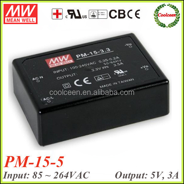 Meanwell PM-15-5 15w switching power supply 5v 3a