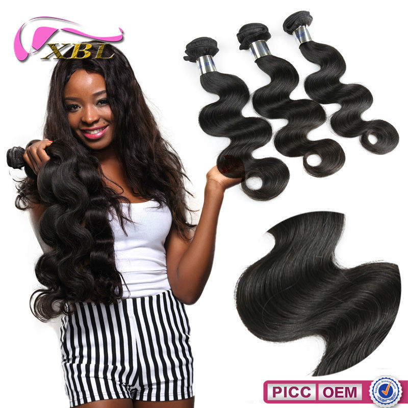 100% Raw Unprocessed Body Wave Chinese Factory In Human Hair