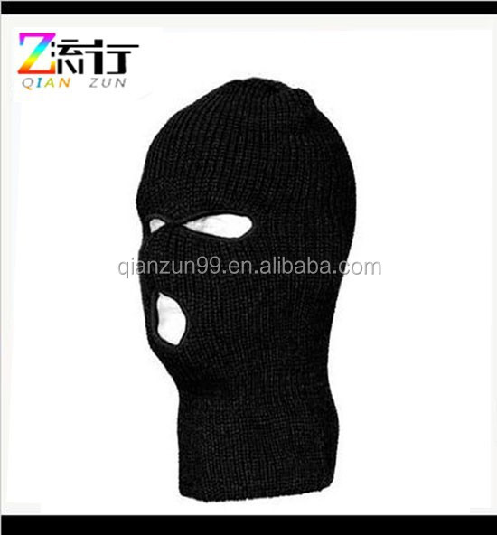 Cheap Black Knitted Ski Face Mask Wholesale