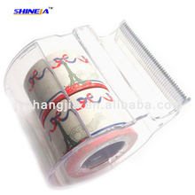 3 Roller paper stationery tape with cutter , value sticky note with plastic dispenser