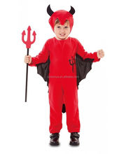 Unisex Lovely Boy& Girl Red Bat Costume Children Halloween Cosplay Fancy Dress Carnival Devil Party Role Play Set For Kids