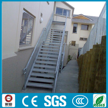 Outdoor Prefabricated Fire Escape Hot Dipped Galvanized