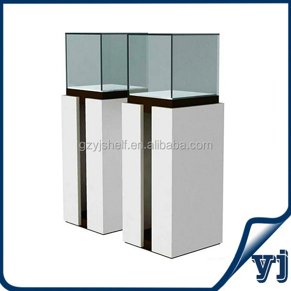 Fashion style display for jewellery/boutique jewellery shop display boxes/glass square display units