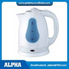 1.8L Hot Sale White Colour Plastic Kettle With Transparent Water Window