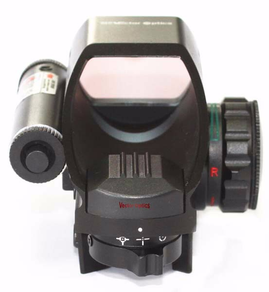 Vector Optics Tomcat 1x22x33 Green Red Dot Sight Compact Tactical Reflex Scope Four Reticles For Gun Hunting