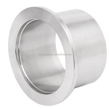 KF160*30 stainless steel 304 vacuum weld fitting Clamp ferrule with half nipple
