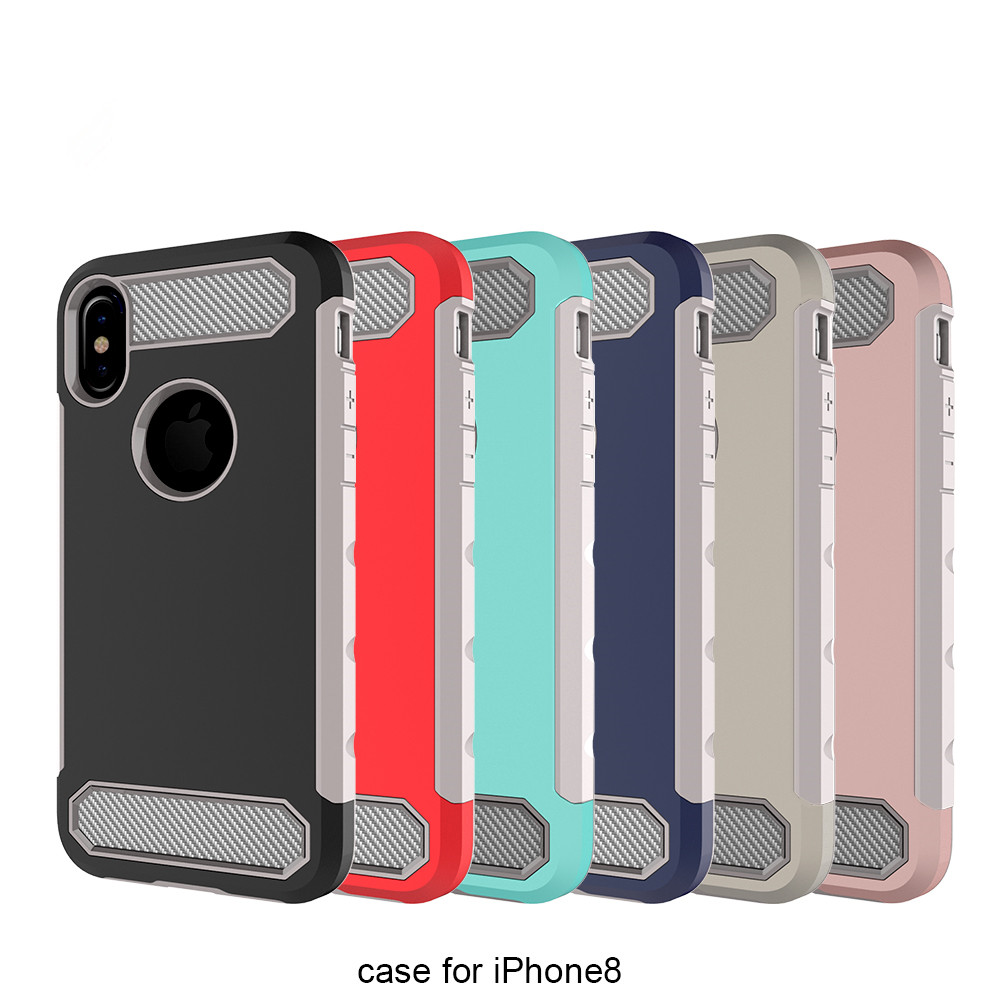 for iphone X case,Carbon fiber unique design hard protect TPU PC cover for iphone X