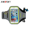 Haissky New Arrival Waterproof Reflective Lycra Sports Armband case for iphone 6/6S with multiple card slots and earphone holder