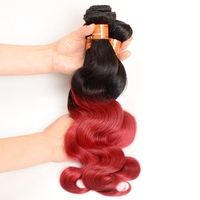 Xuchang Hair Factory Best Price 2 Tone Ombre 1b/burg Body Wave Unprocessed Wholesale Virgin Brazilian Hair