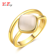 Wholesale Promotion Gold Plated 2 layered Gold Ring Jewelry Flat o-ring $1.13
