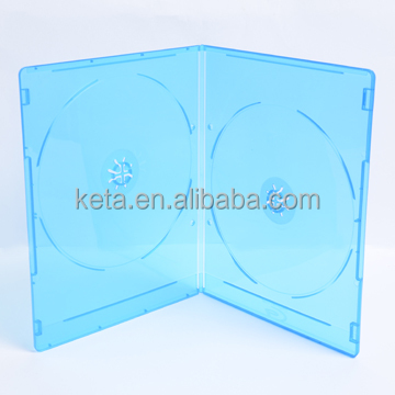 5mm Super Slim Double DVD Blu Ray Case With Logo
