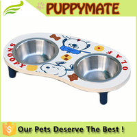 Elevated Double Dog Bowl Feeder Raised Stand Food Water Pet Tray Dish Off Ground
