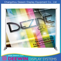 Silver Large Adjustable Banner Stand With 0.8mm Thick Aluminum Tubes