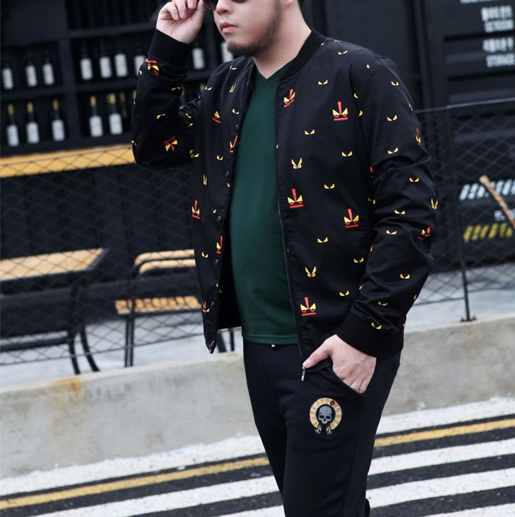 Men Plus Size Clothing Lightweight Embroidered Oversized Bomber Jackets Custom In China