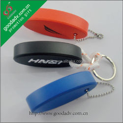 Eco-friendly pu Floating key chain / promotional keychains for bikes