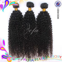 100% virgin human hair weaving wholesale cambodian 27 piece kinky curly hair weave