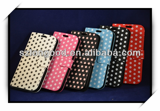 Polka Dot Wallet Stand PU Leather Case Cover For New Samsung Galaxy S3 III i9300