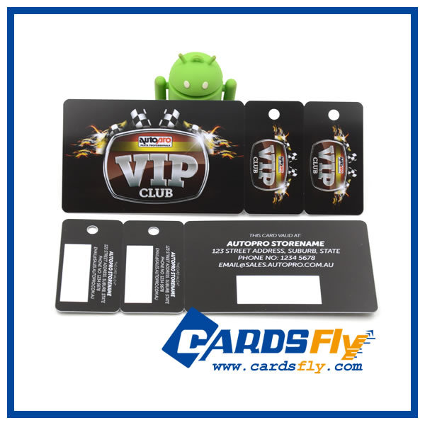 PVC/Plastic cards with two key tags that you can write information on