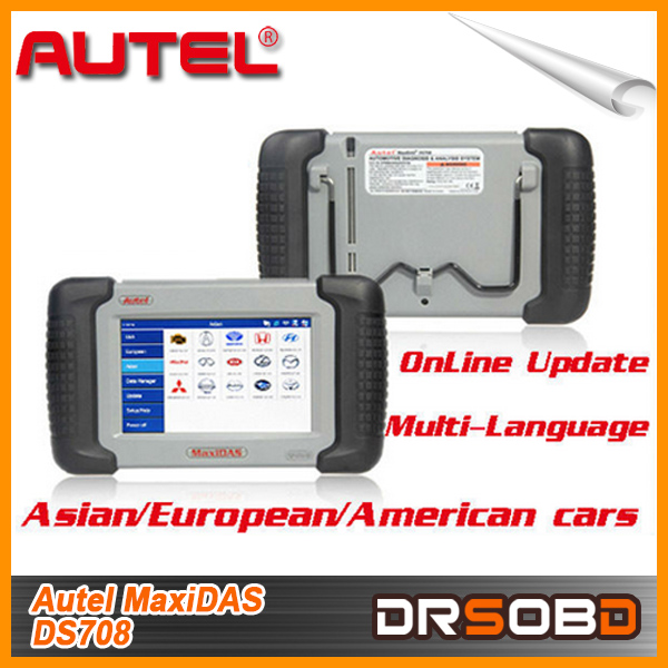 Original Autel Scanner MaxiDAS DS708 Universal Diagnostic Tool Can Diagnostic Asian, European and American Cars