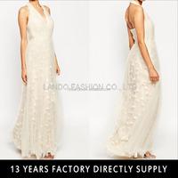 Elegant chiffon halter backless maxi formal evening gowns from dubai