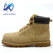 Suede Non Slip Scid Resistant Fashionable Safety Boots Goodyear Work Shoes For Construction Workers