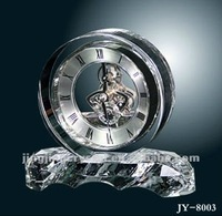 Fashion big round funny desk crystal clock for gift from China Factory style
