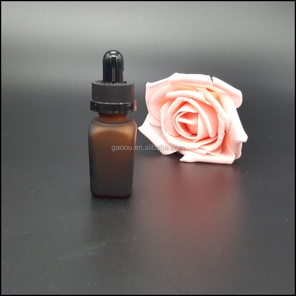 10ml frosted amber glass dropper bottles with neck finish DIN 18mm 100ml bottle glass dropper bottle for eliquid or essentialoil