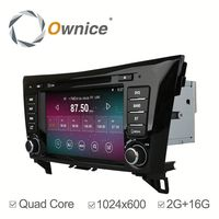 Ownice Quad core Android 4.4 up to android 5.1 Car radio player for nissan qashqai with Wifi 2G 16G 1024*600
