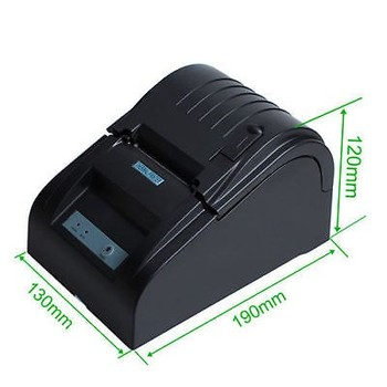Portable Bluetooth Printer 58mm POS thermal printer 90mm/s supporting Android systerm Black