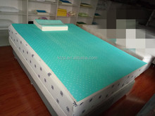 High quality slow rebound memory foam mattress topper roll pack high desity