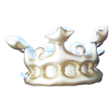 birthday party decoration gold pvc inflatable crown hat