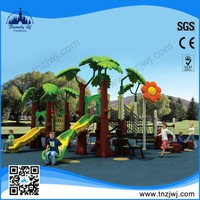 2015 soft material plastic outdoor jungle gym for kids outdoor playground slide to play