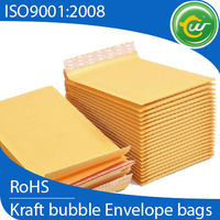 gold kraft paper bubble padded envelopes mailing bags with wholesale price