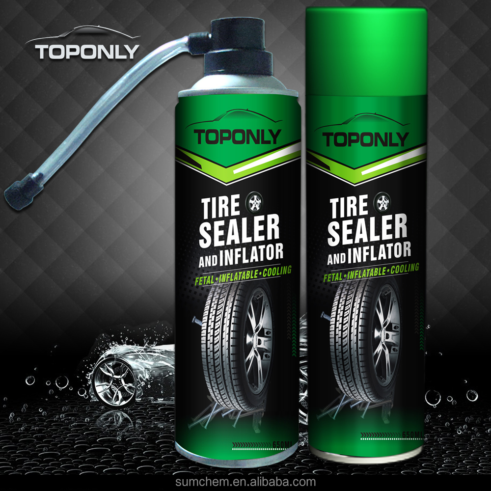 Car care product with Tyre sealer and inflator spray