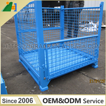 ISO Steel Collapsible Stackable Wire Mesh Storage Container