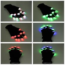 Nelon Multi-color Flashing LED Gloves for Dancing /Light up flashing gloves