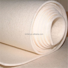 2mm 3mm 5mm thick 100% wool needle punched felt of china factory price