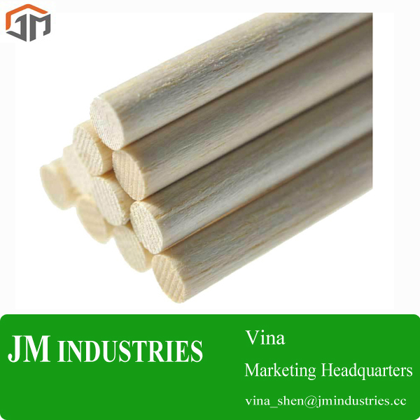 Low Price taper end wooden dowel Supplier