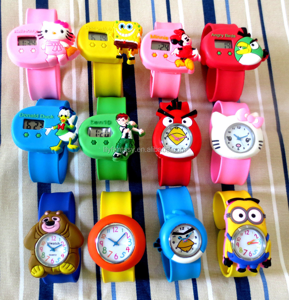 MOQ 100pcs in Your Logo Christmas gift animal slap kids watch silicon custom my logo brand