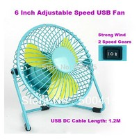 Metal desktop usb brushless motor cooling fan with 2 levels Speed